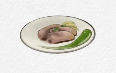 Morbido di vitello con crema di prezzemolo e mele marinate